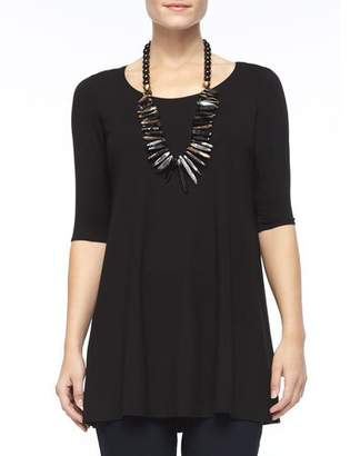 Eileen Fisher Half-Sleeve Silk Jersey Tunic