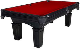 Asstd National Brand Cobra 8-ft Slate Billiard Pool Table w/ Burgundy Felt