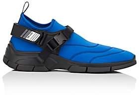Prada Men's Harness-Strap Neoprene Sneakers - Navy