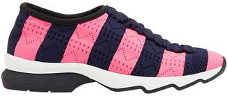 Fendi striped perforated sneakers