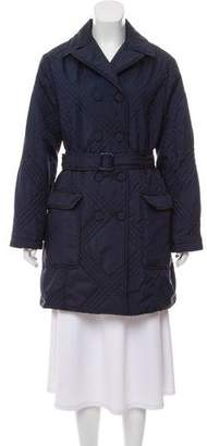 Tory Burch Quilted Knee-Length Coat