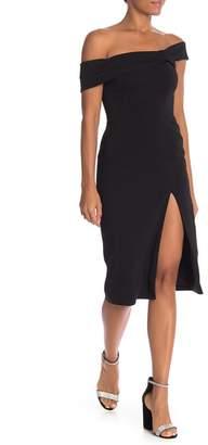 Jay Godfrey Darryl Off-the-Shoulder Solid Dress