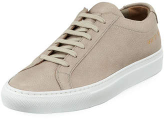 Common Projects Original Achilles Low-Top Premium Sneakers, Taupe