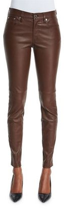 Ralph Lauren Collection Stretch-Leather Skinny Pants, Chestnut Brown $1,995 thestylecure.com