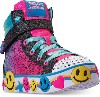 Skechers Little Girls' Twinkle Toes: Smile Lights High Top Light-Up Casual Sneakers from Finish Line