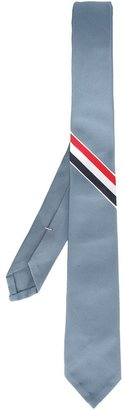 Thom Browne grosgrain striped tie $200.96 thestylecure.com