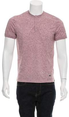 Calvin Klein Collection Short Sleeve Henley T-Shirt w/ Tags