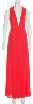 Aq/Aq Sleeveless Maxi Dress Orange Sleeveless Maxi Dress