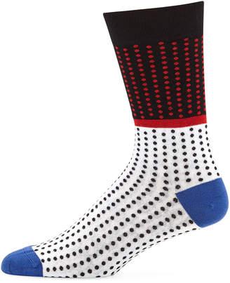 Maceoo Men's Mixed Polka-Dot Bamboo-Knit Socks