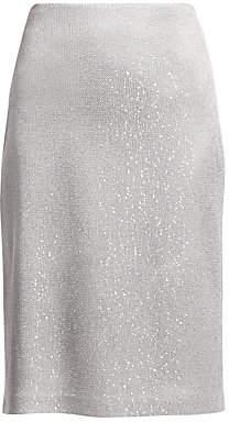 St. John Women's Sequin Knit Skirt - Size 0