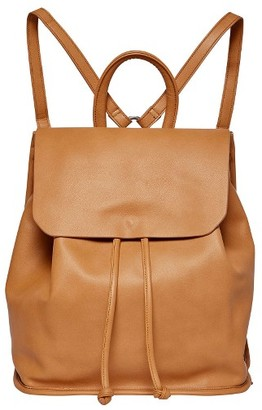 Urban Originals Midnight Faux Leather Flap Backpack - Brown $88 thestylecure.com