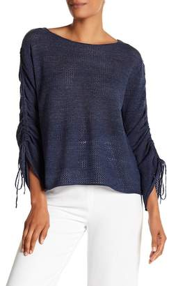 Vince Camuto Drawstring 3/4 Sleeve Sweater