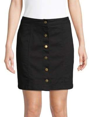 Missguided Buttoned Pencil Denim Skirt