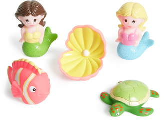 Elegant Baby Mermaid Party Squirtie Bath Set