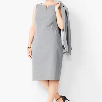 Talbots Tailored Gingham Sheath Dress