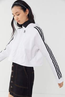 8c6a8cb7b654f at Urban Outfitters · adidas Adicolor 3-Stripes Cropped Hoodie Sweatshirt