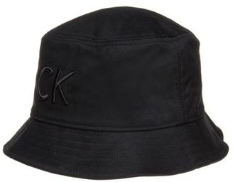 New Mens Black Refined Cotton Hat Bucket