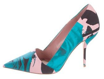 Christian Dior Floral-Printed Pointed-Toe Pumps