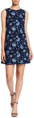 Alice + Olivia Clyde Floral Sleeveless Shift Dress