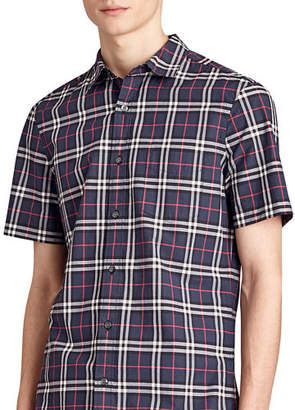 Burberry Alexander Check Short-Sleeve Sport Shirt