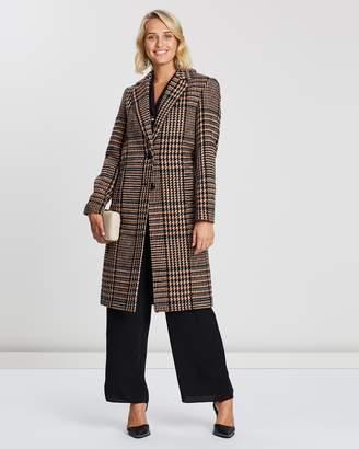 Dorothy Perkins Colour Pop Check Midi Coat