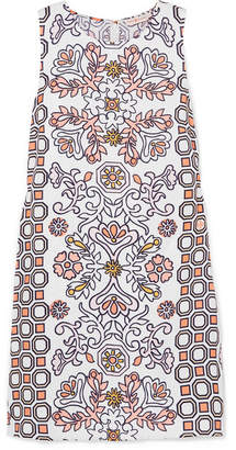 Tory Burch Hicks Garden Printed Linen-blend Mini Dress - Orange