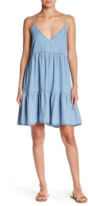 Love Stitch Chambray Babydoll Dress
