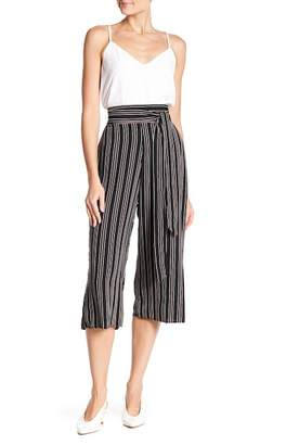 WEST KEI Tie Front Stripe Cropped Pants