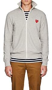 Comme des Garcons Men's Heart Cotton Terry Track Jacket - Light Gray