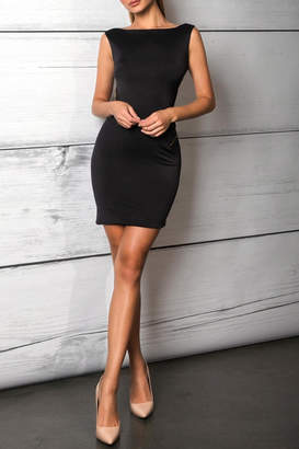 Savee Couture Savee Open Zipper Dress
