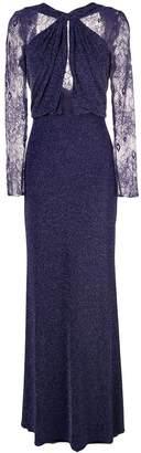 Tadashi Shoji lurex knit evening dress