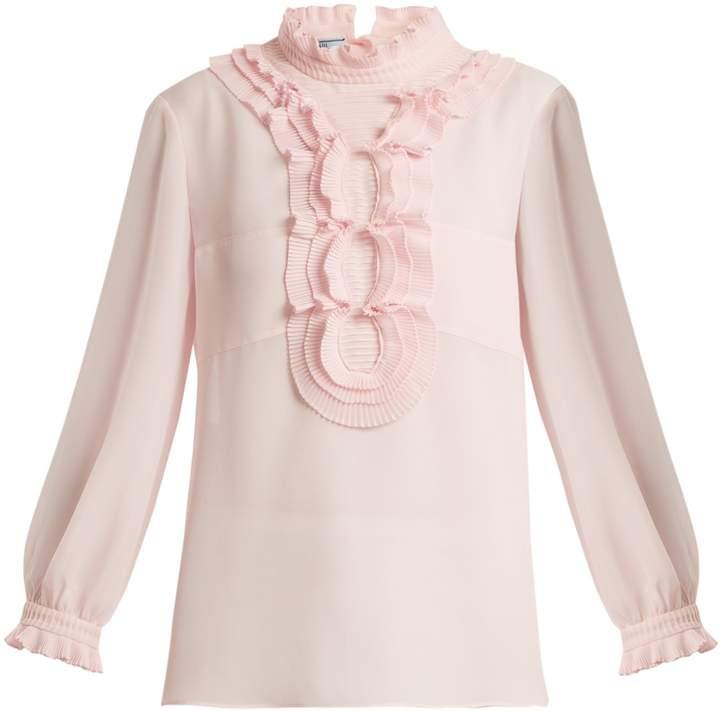 PRADA Ruffle georgette blouse
