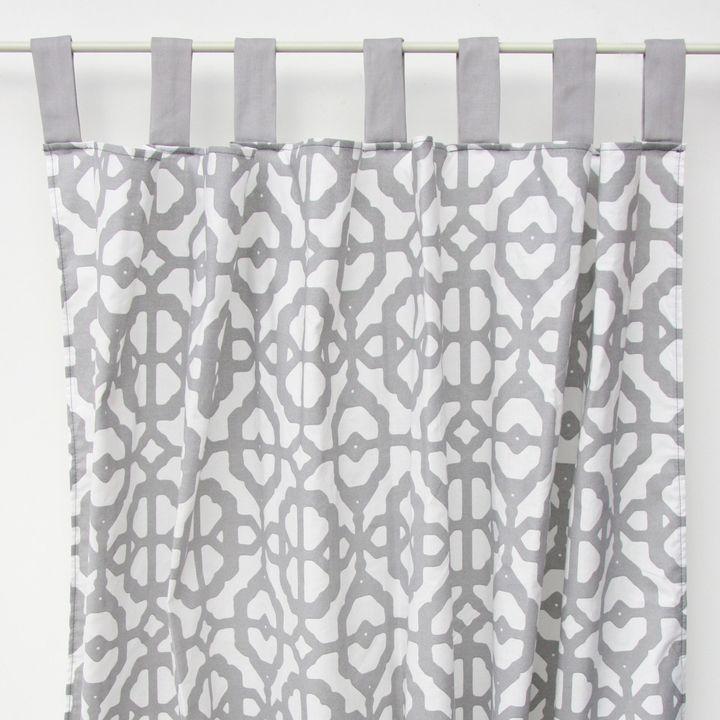 Caden LaneCaden Lane® Mod Lattice Curtain Panel in Grey/White (Set of 2)