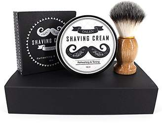 RONSHIN Beard Care Set Shaving Cream + Shaving Brush Perfect for Men Gift 2 Pcs/ Set