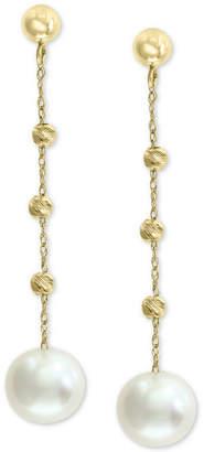 Effy Cultured Freshwater Pearl (8mm) Beaded Drop Earrings in 14k Gold