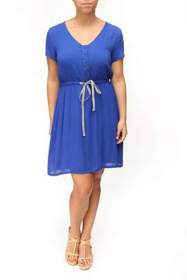Tulle Blue Drawstring Dress