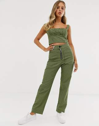 Capulet keeley high waisted check trousers