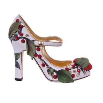 Dolce & Gabbana White Leather Heels