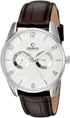 Obaku Men's V171GMCIRN Analog Display Analog Quartz Brown Watch