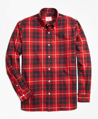Brooks Brothers Tartan Cotton Flannel Sport Shirt