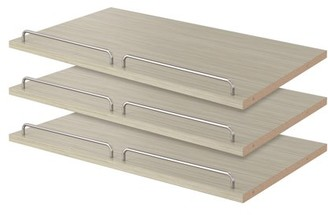 """Easy Track RS1600-CG 14"""" X 23-7/8"""" X 5/8"""" Weathered Grey Shoe Shelves 3 Count"""