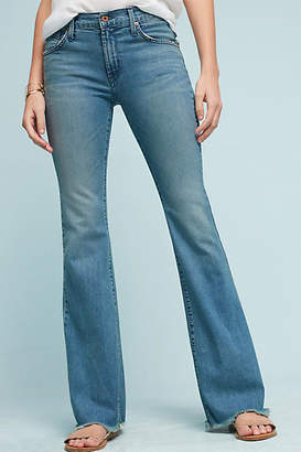 James Jeans Bella Mid-Rise Slim Flared Petite Jeans