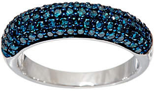 Affinity Diamond Jewelry Pave' Colored Diamond Domed Band Ring Sterlingby Affinity