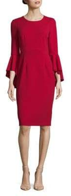 Maggy London Long Bell Sleeve Sheath Dress