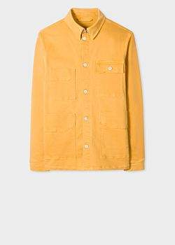 Paul Smith Men's Yellow Stretch-Cotton Denim Chore Jacket