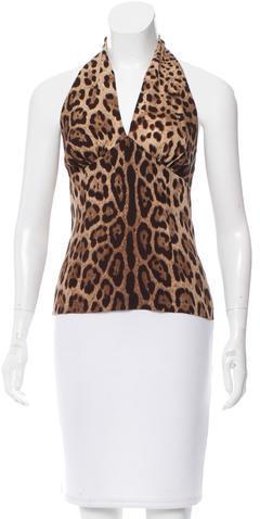 Dolce & GabbanaD&G Leopard Print Halter Top