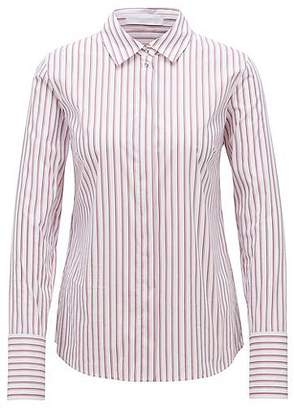 HUGO BOSS Regular-fit blouse with vertical stripe pattern