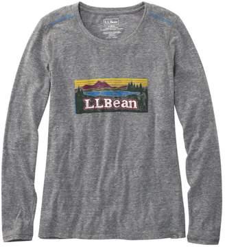 L.L. Bean L.L.Bean Women's Back Cove Long-Sleeve Graphic Tee