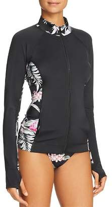 Tommy Bahama Active Floral-Inset Zip-Front Jacket