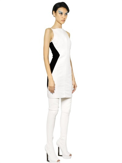Gareth Pugh Ottoman And Jersey Sleeveless Dress